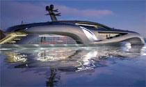 奢華概念遊艇外形酷似超跑