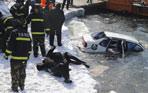 轎車墜入松花江 車內情侶相擁溺水死亡