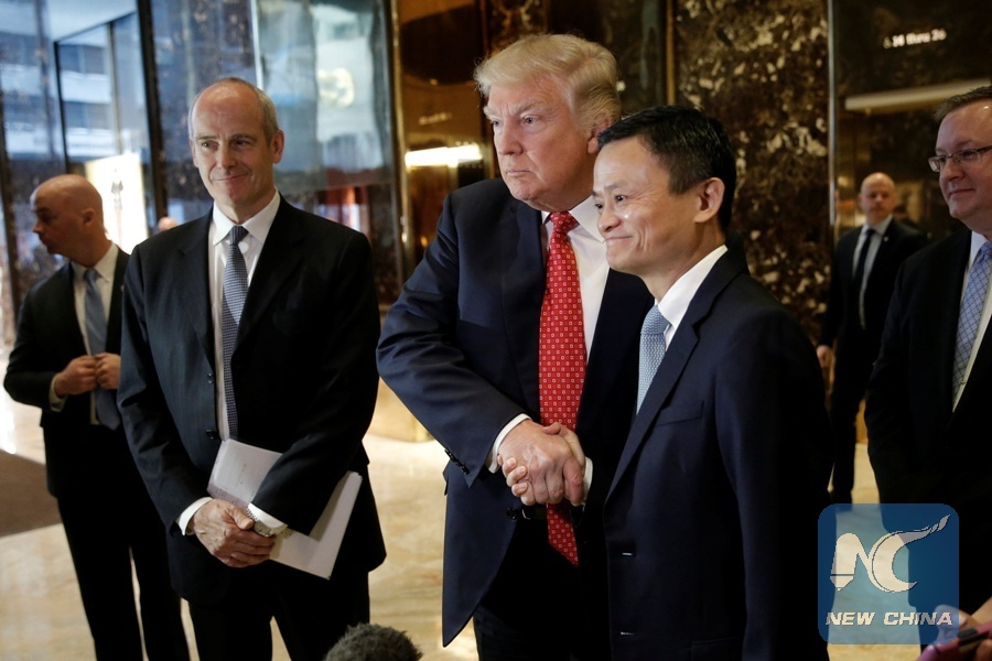 Alibaba's Jack Ma meets with Trump, discusses plans to help American small business
