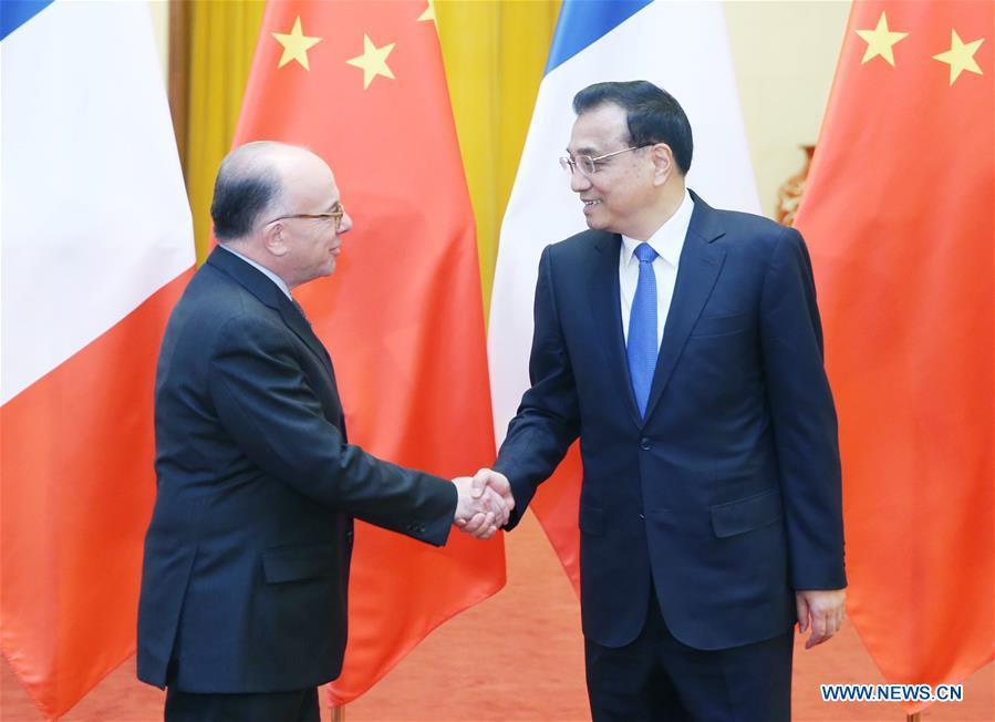CHINA-BEIJING-LI KEQIANG-FRENCH PM-TALKS (CN)