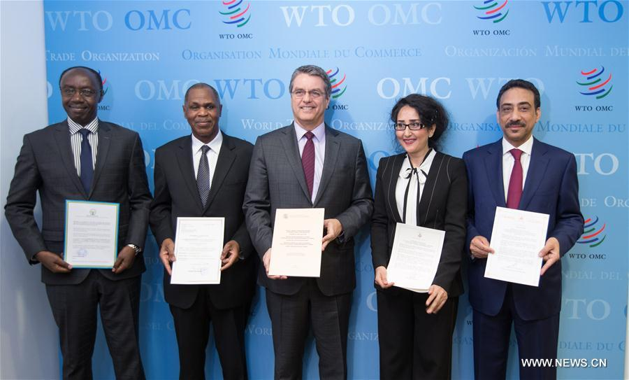 Landmark Trade Agreement Enters Into Force Wto Chief Xinhua
