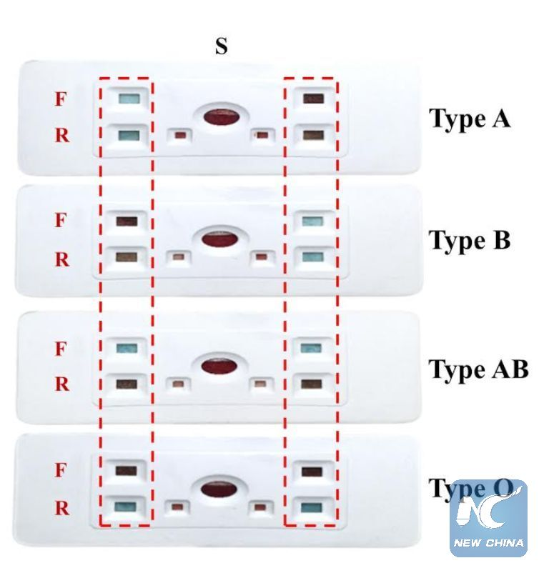 paper test determines blood type in 30 seconds study xinhua
