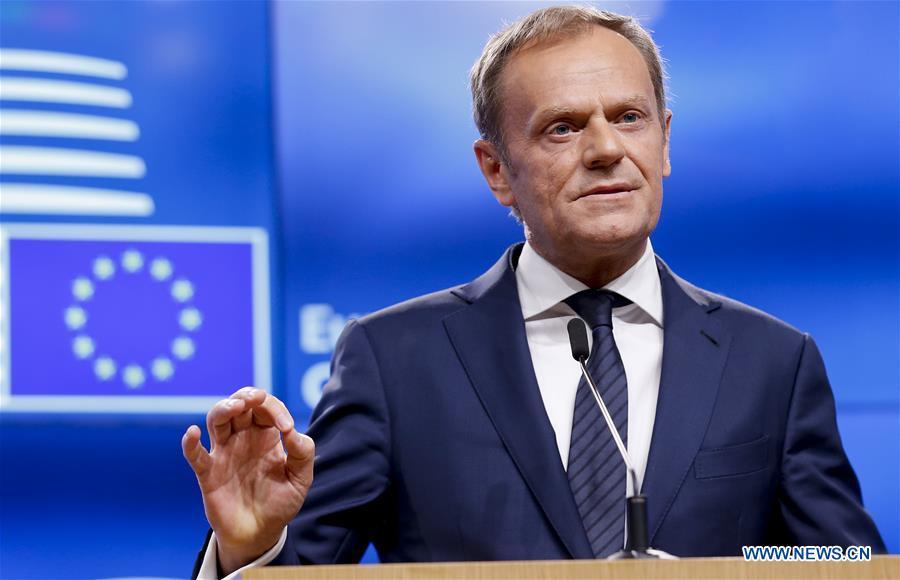 BELGIUM-BRUSSELS-EU-BREXIT-TUSK