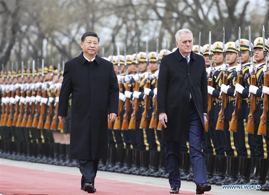 CHINA-BEIJING-XI JINPING-SERBIAN PRESIDENT-WELCOME CEREMONY (CN)