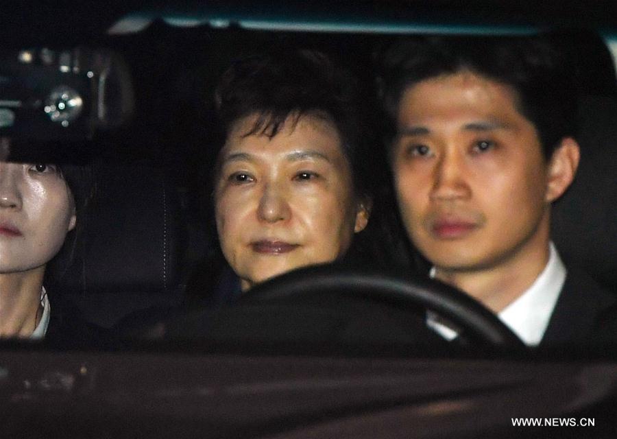 Image result for S. Korea's ex-president Park arrested over corruption allegations