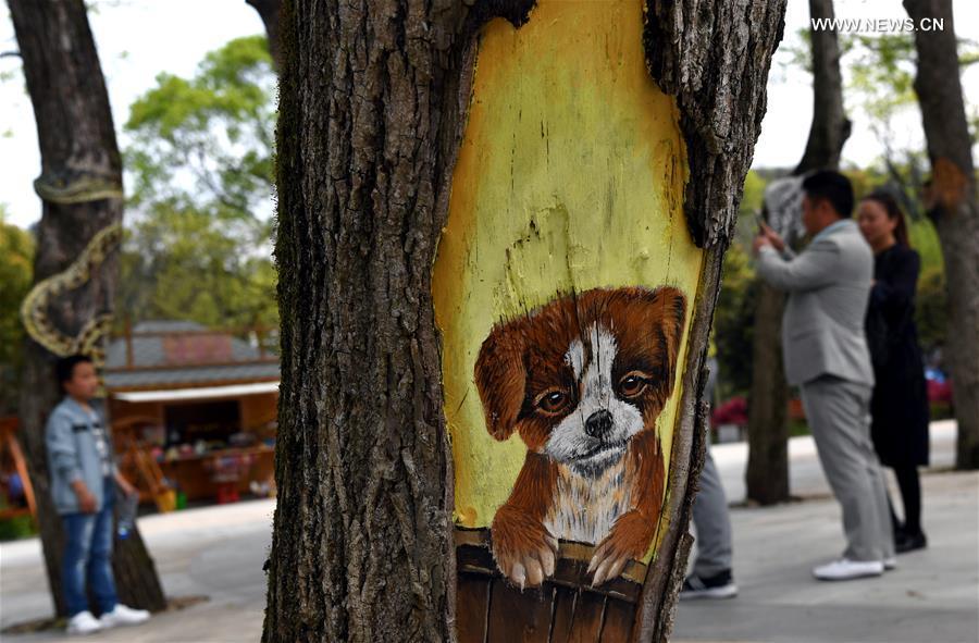 CHINA-ANHUI-SHUCHENG-TREE PAINTINGS (CN)