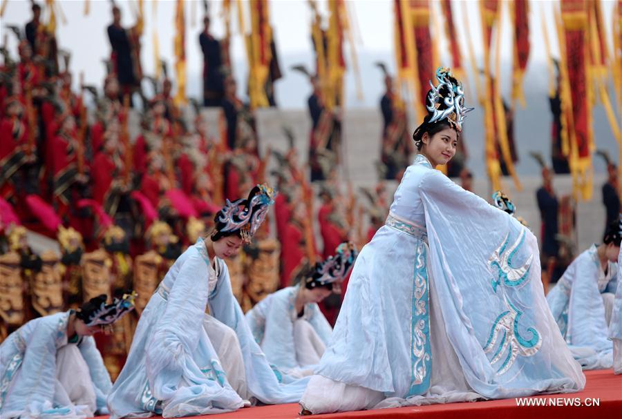 CHINA-SHAANXI-YELLOW EMPEROR-CEREMONY (CN)