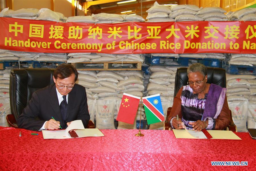 NAMIBIA-WINDHOEK-CHINA-RICE-DONATION