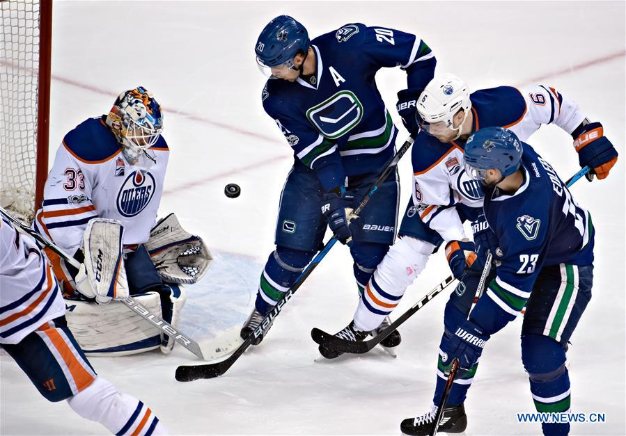 National Hockey League Match Edmonton Oilers Vs Vancouver Canucks