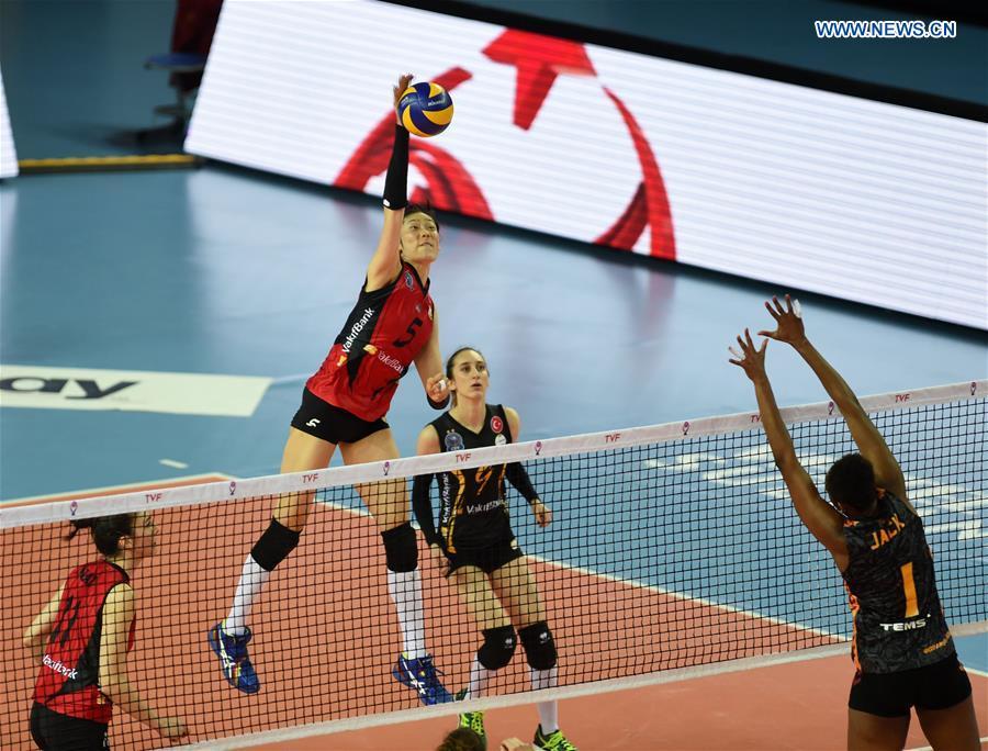 (SP)TURKEY-ISTANBUL-VOLLEYBALL-TURKISH WOMEN LEAGUE-PLAYOFFS-SEMI FINAL-VAKIFBANK VS GALATASARAY