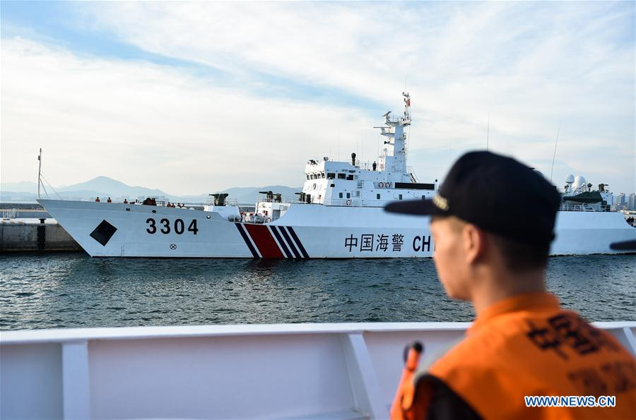 Police vessels leave Sanya, south China's Hainan Province, April 17, 2017. Two Chinese maritime police vessels on Monday left Sanya for a China-Vietnam joint fishery inspection. The inspection in the Beibu Gulf involves two police vessels from each side and will be conducted over three days, ending Thursday. Joint inspections began in 2006 as an annual event, and were increased to twice a year in 2016. (Xinhua/Mao Siqian)<br/>Two Chinese maritime police vessels on Monday left here for a China-Vietnam joint fishery inspection.<br/>The inspection in the Beibu Gulf involves two police vessels from each side and will be conducted over three days, ending Thursday.<br/>Maritime police will observe the fishing activities and occasionally board fishing boats to carry out random checks, according to China's maritime police authorities. The two sides will also discuss ways of improving cooperation.<br/>The gulf is a traditional fishery ground for fishermen of both countries. China and Vietnam signed an agreement on the demarcation of the gulf in 2000. Deals on peaceful exploitation of resources were later signed.<br/>Joint inspections began in 2006 as an annual event, and were increased to twice a year in 2016.<br/>Chinese maritime police said the joint inspection provided a means for smooth contact with their Vietnamese counterparts, creating a peaceful and harmonious environment for the fishermen.<br/>