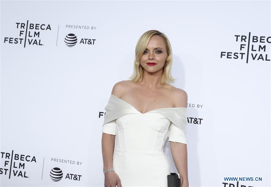 Actress Christina Ricci attends the opening night of the 2017 Tribeca Film Festival and the world premiere of &quot;Clive Davis: The Soundtrack of Our Lives&quot; in New York, the United States, April 19, 2017. The 16th annual Tribeca Film Festival opened here Wednesday night, bringing a trove of films, TV events, virtual reality installations and music pieces to New York. (Xinhua/Wang Ying)<br/>