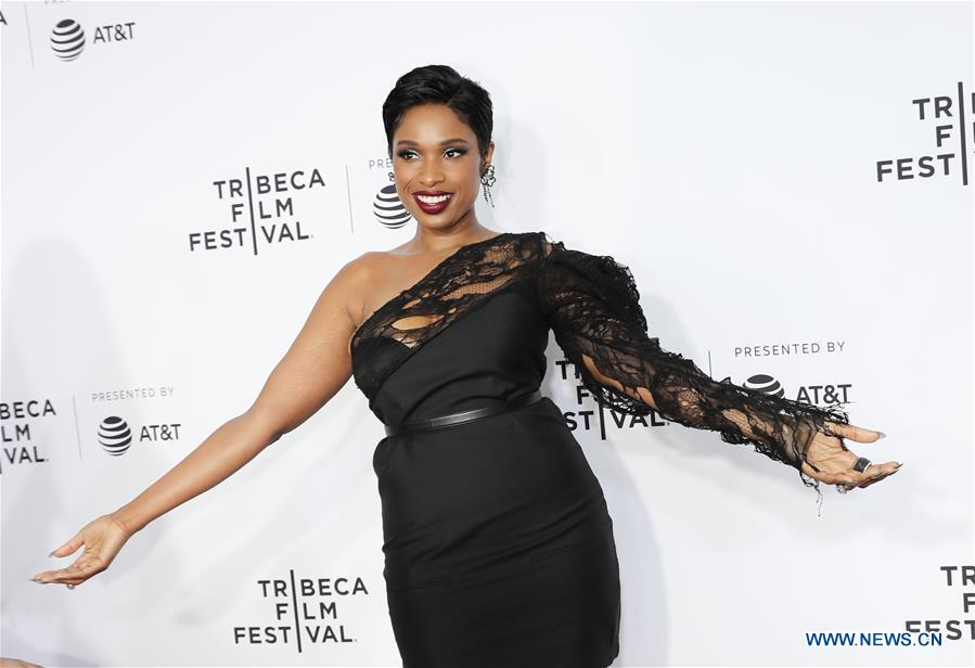 Singer and actress Jennifer Hudson attends the opening night of the 2017 Tribeca Film Festival and the world premiere of &quot;Clive Davis: The Soundtrack of Our Lives&quot; in New York, the United States, April 19, 2017. The 16th annual Tribeca Film Festival opened here Wednesday night, bringing a trove of films, TV events, virtual reality installations and music pieces to New York. (Xinhua/Wang Ying)<br/>