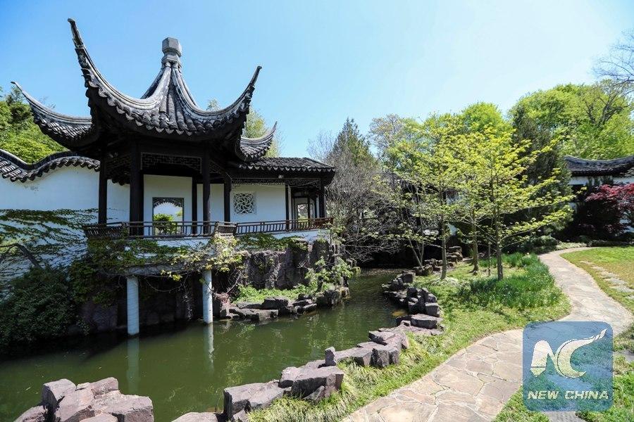 Feature chinese scholar 39 s garden arcadia in new york city xinhua for New york chinese scholar s garden