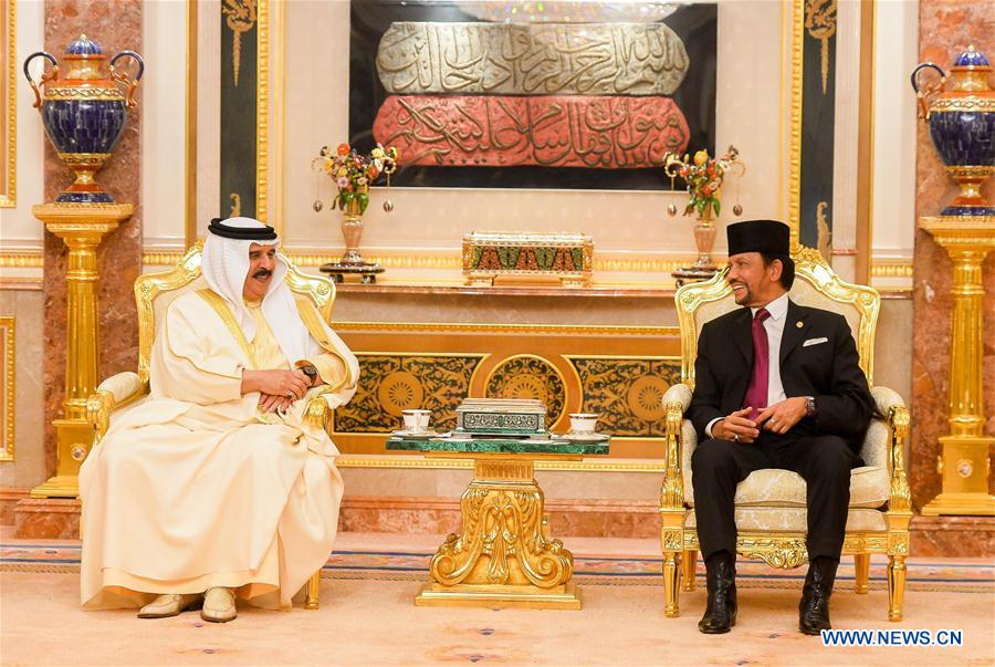 Bahrain's king arrives in capital of Brunei for state visit