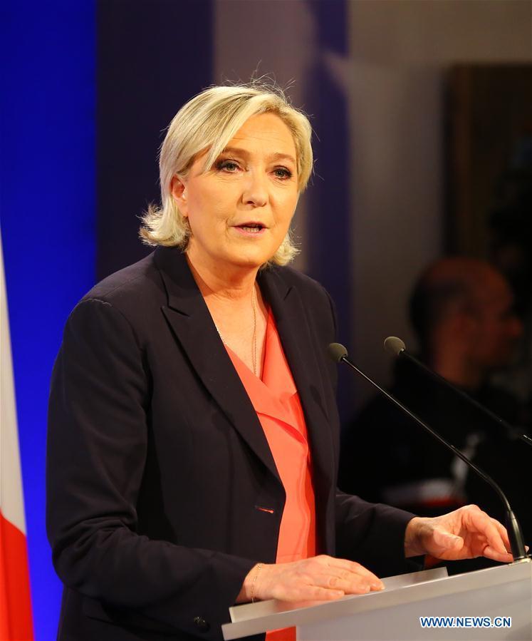 FRANCE-PARIS-PRESIDENTIAL ELECTION-MARINE LE PEN-RALLY