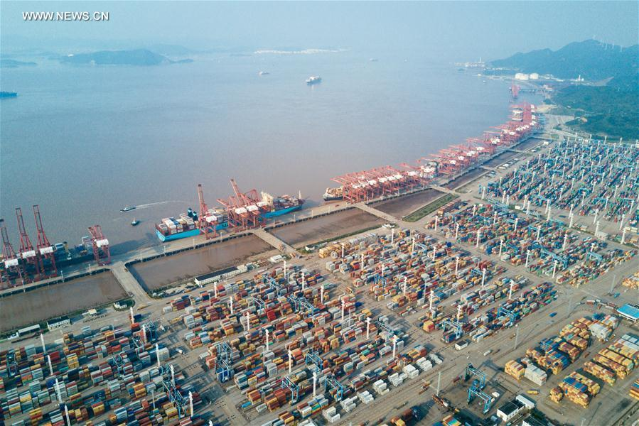 Ningbo K: In Pics: Container Terminal Of Zhoushan Port In China's