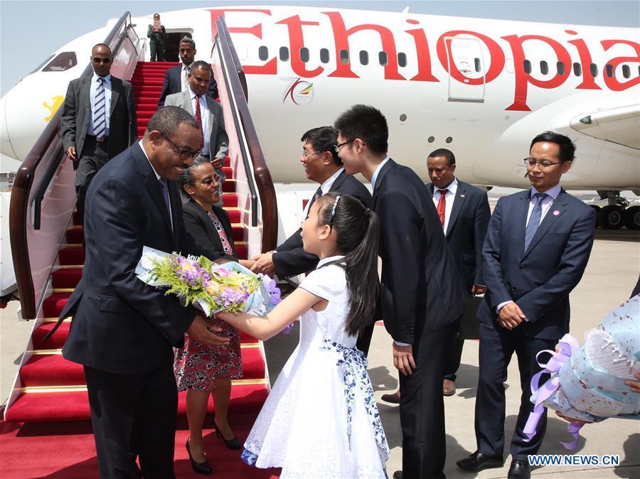 CHINA-BEIJING-ETHIOPIAN PM-ARRIVAL (CN)