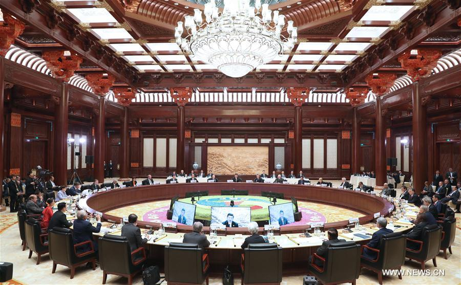 (BRF)CHINA-BELT AND ROAD FORUM-LEADERS' ROUNDTABLE SUMMIT-XI JINPING (CN)