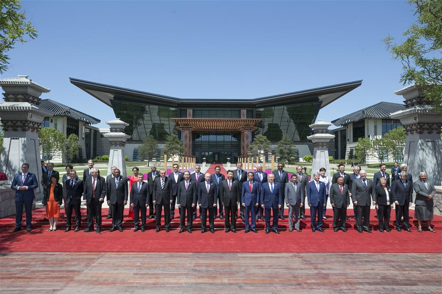 (BRF)CHINA-BELT AND ROAD FORUM-LEADERS' ROUNDTABLE SUMMIT-GROUP PHOTO (CN)