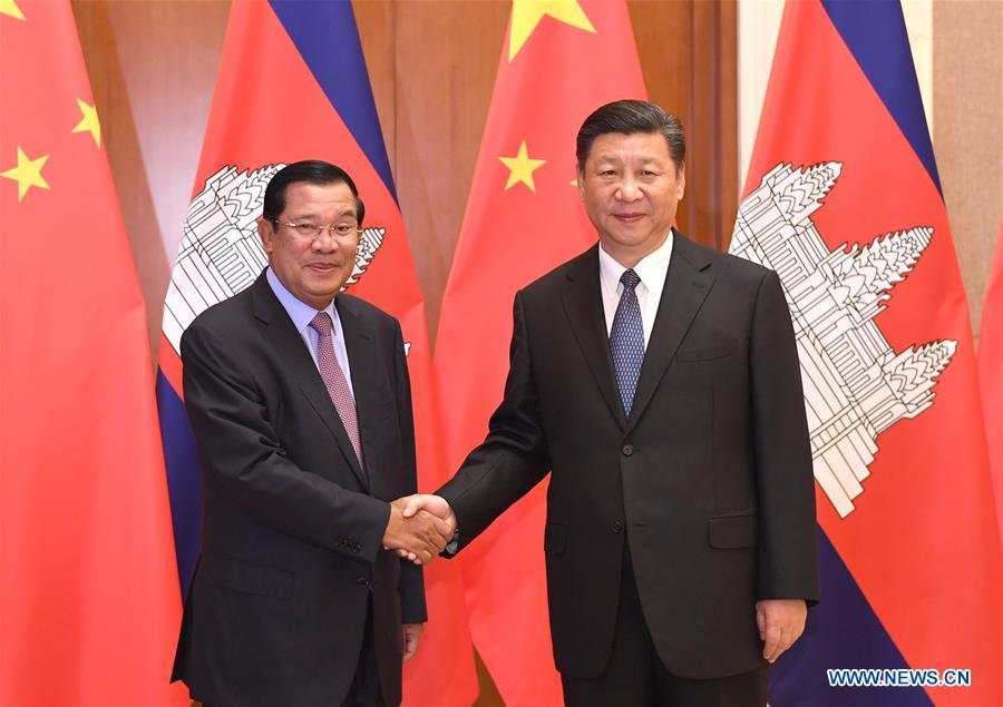 CHINA-BEIJING-XI JINPING-CAMBODIAN PM-MEETING (CN)