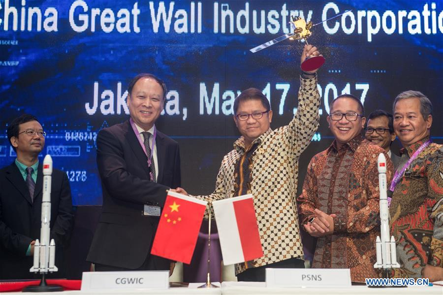 Chinese, Indonesian firms sign contract on satellite purchase