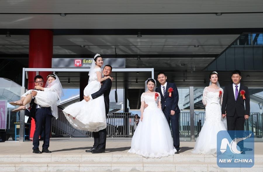Chinese group wedding heralds Kenya's new railway
