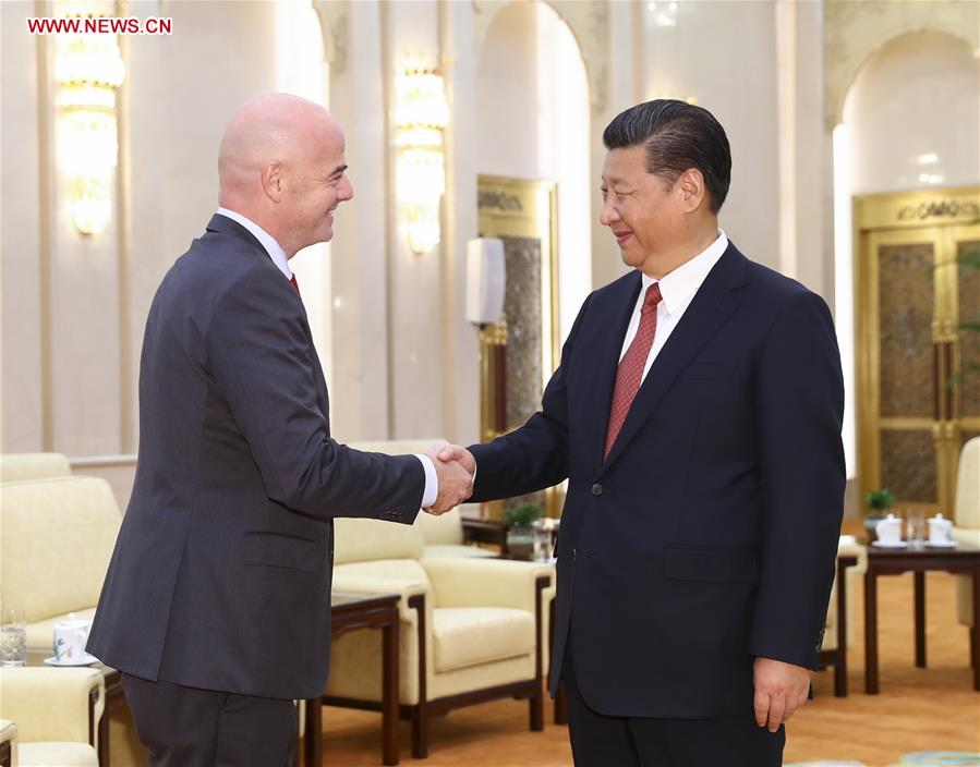 Xi meets with FIFA president Infantino