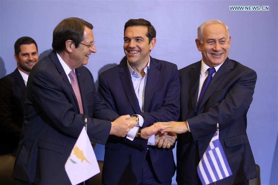 GREECE-THESSALONIKI-CYPRUS-ISRAEL-ENERGY-COOPERATION