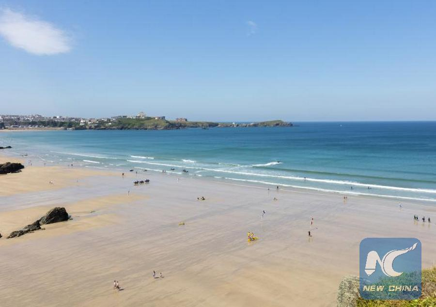Xinhua Britain S Beaches
