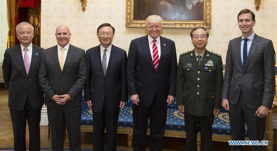 U.S.-WASHINGTON D.C.-TRUMP-CHINESE STATE COUNCILOR-MEETING
