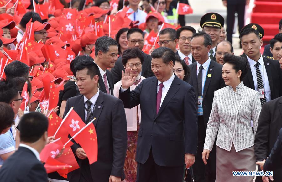 CHINA-HONG KONG-XI JINPING-ARRIVAL (CN)