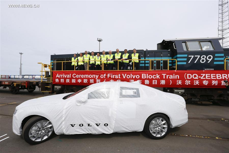 First Train Ferrying China Made Volvo Cars Arrives In Belgium