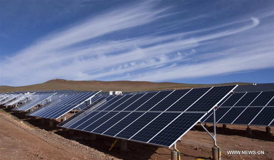 A look at new established PV power plant in Tibet