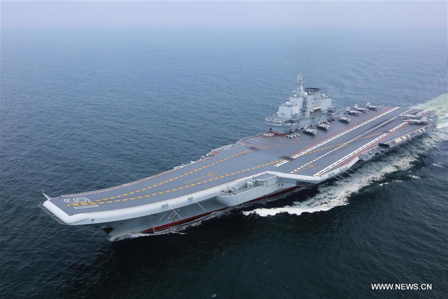 Chinese aircraft carrier formation conducts coordination training - Xinhua