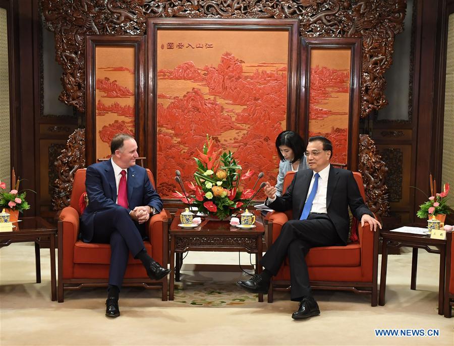 CHINA-BEIJING-LI KEQIANG-NEW ZEALAND-JOHN KEY-MEETING (CN)