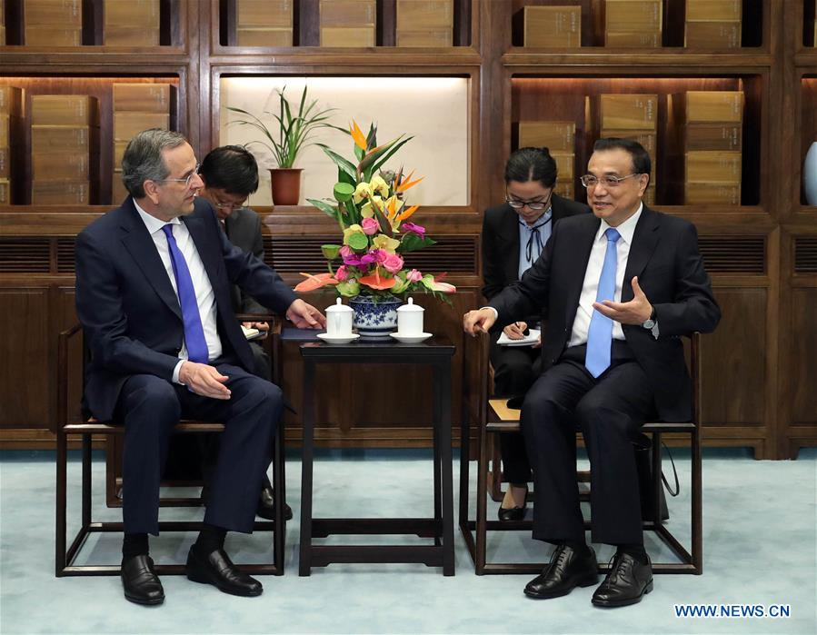 Chinese Premier meets former Greek PM