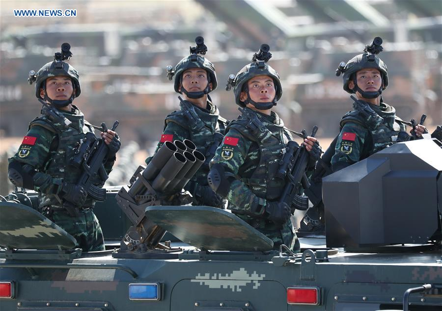 China's Army Day parade shows resolution to safeguard peace - Xinhua