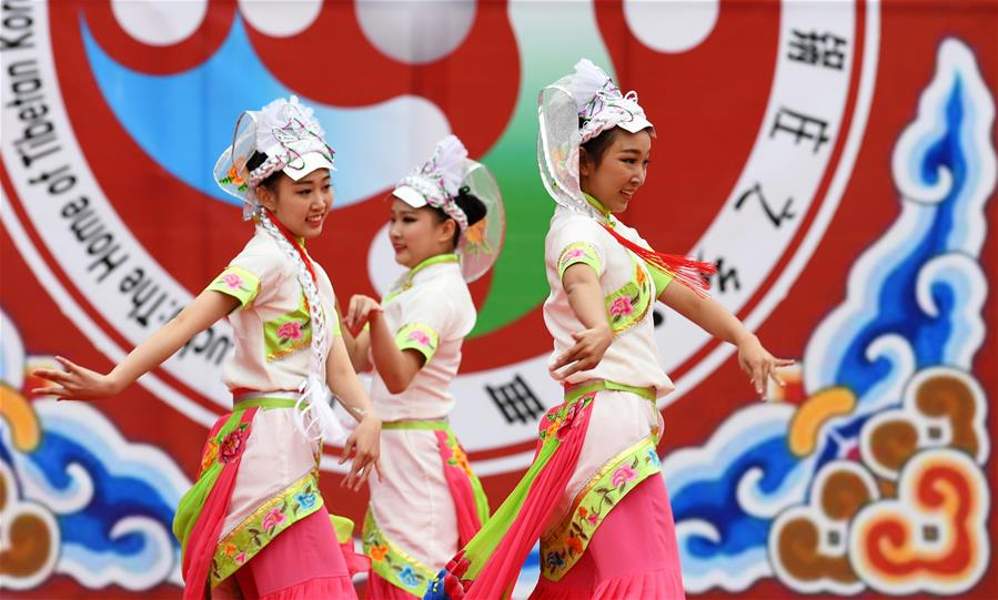 6th Luqu Guozhuang Dance Performance held in NW China's Gansu