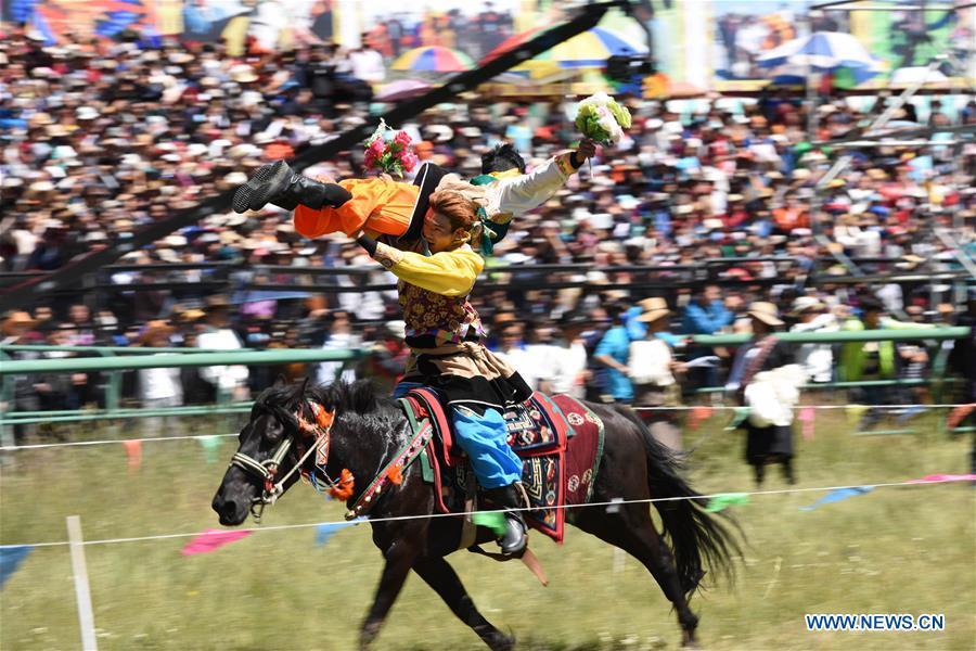 CHINA-GANSU-MAQU-HORSE RACING-OPENING (CN)