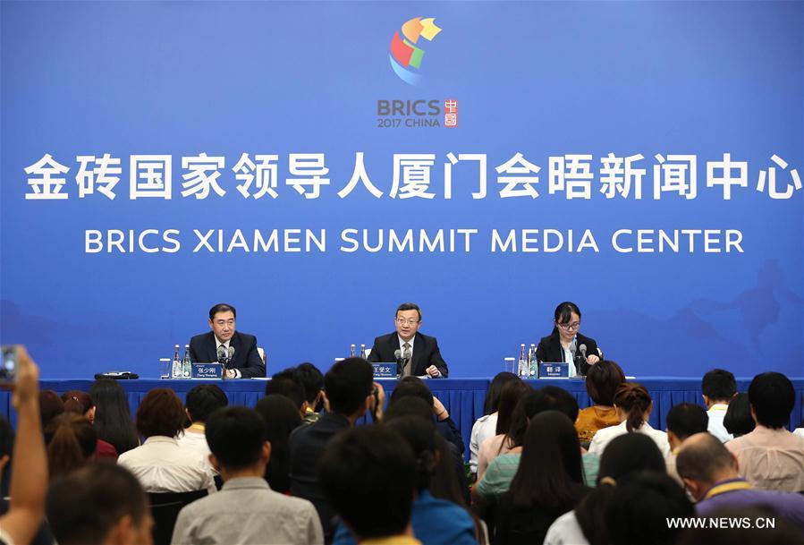 (XIAMEN SUMMIT)CHINA-XIAMEN-BRICS-PRESS CONFERENCE (CN)