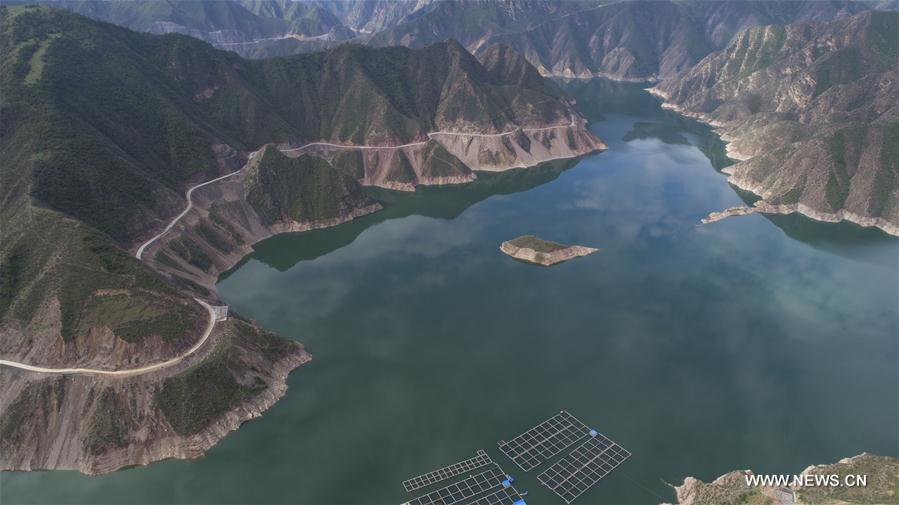 Scenery of Jiudian Gorge in NW China's Gansu