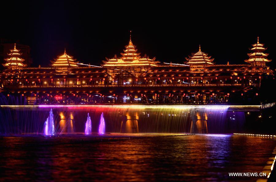 #CHINA-HUBEI-LIGHT SHOW (CN)