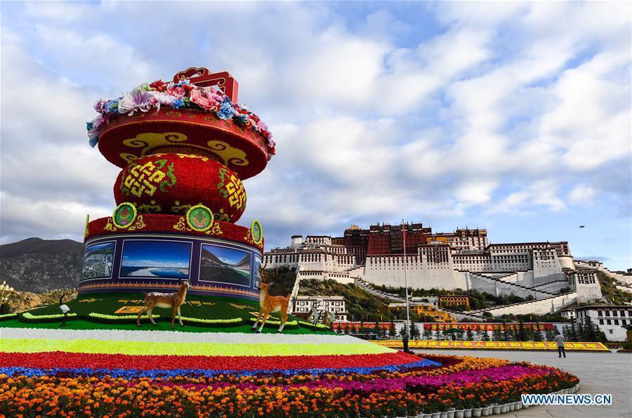 CHINA-LHASA-NATIONAL DAY DECORATIONS (CN)