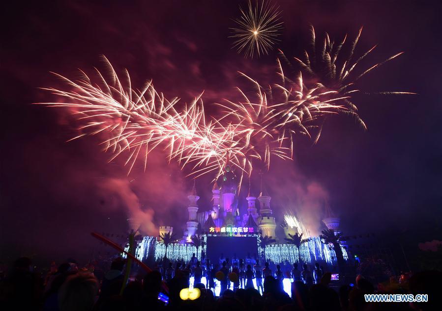 Fireworks light up Mid-Autumn Festival in NE China - Xinhua