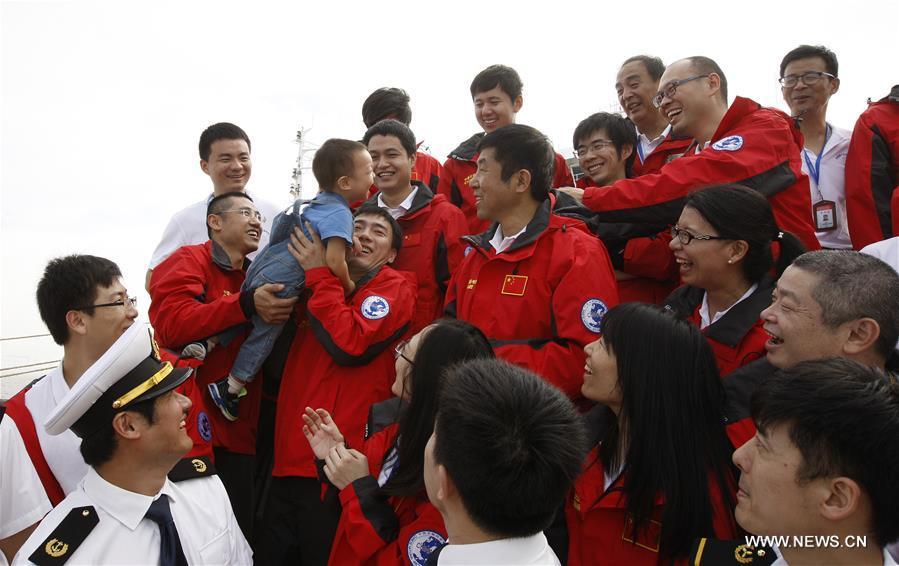 CHINA-SHANGHAI-ARCTIC EXPEDITION-RETURN(CN)