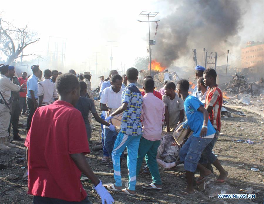 SOMALIA-MOGADISHU-BOMB EXPLOSION