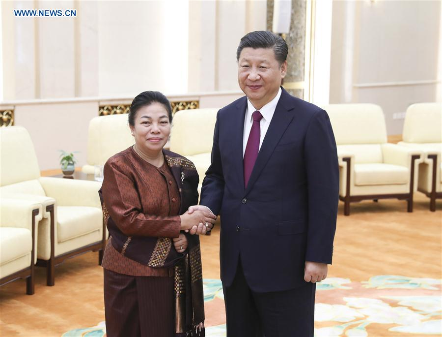 CHINA-LAOS-XI JINPING-LPRP-MEETING (CN)