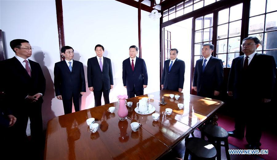 CHINA-SHANGHAI-XI JINPING-CPC LEADERS-VISIT (CN)