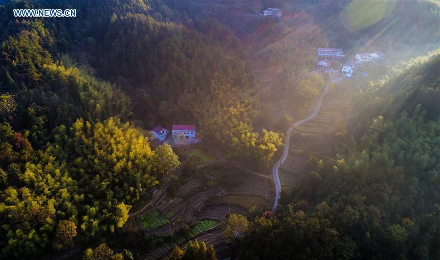 CHINA-ANHUI-SHUCHENG-VILLAGE-SCENERY(CN)